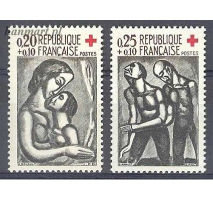 Francja 1961 Mi 1376-1377 Czyste **