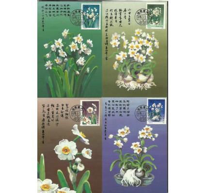 Znaczek Chiny 1990 Mi 2283-2286 Karta Max