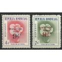 Dominikana 1960 Mi 733-734 Czyste **