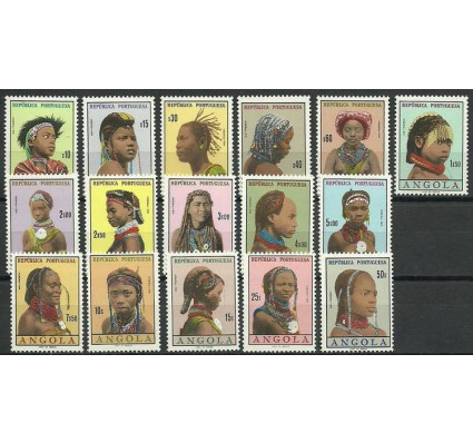 Znaczek Angola 1961 Mi 425-440 Z podlepką *