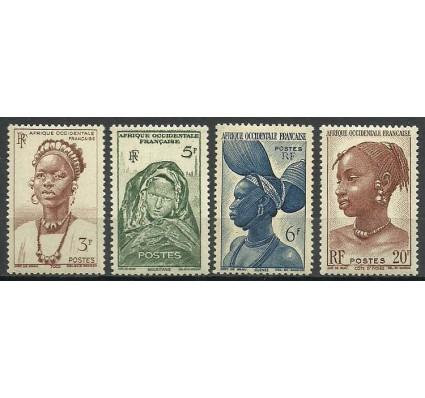Znaczek Francuska Afryka Zachodnia 1947 Mi 44+47-48+51 Czyste **