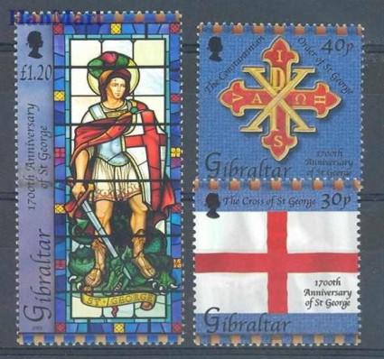 Znaczek Gibraltar 2003 Mi 1042-1044 Czyste **