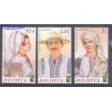 Mołdawia 2012 Mi 789-791 Czyste **