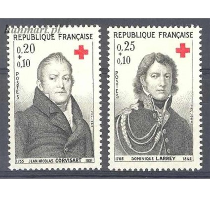 Francja 1964 Mi 1494-1495 Czyste **