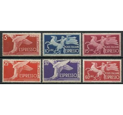Znaczek Włochy 1945 Mi 715-720 Czyste **