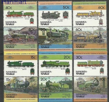 Znaczek Tuvalu 1984 Mi 1-12 Czyste **