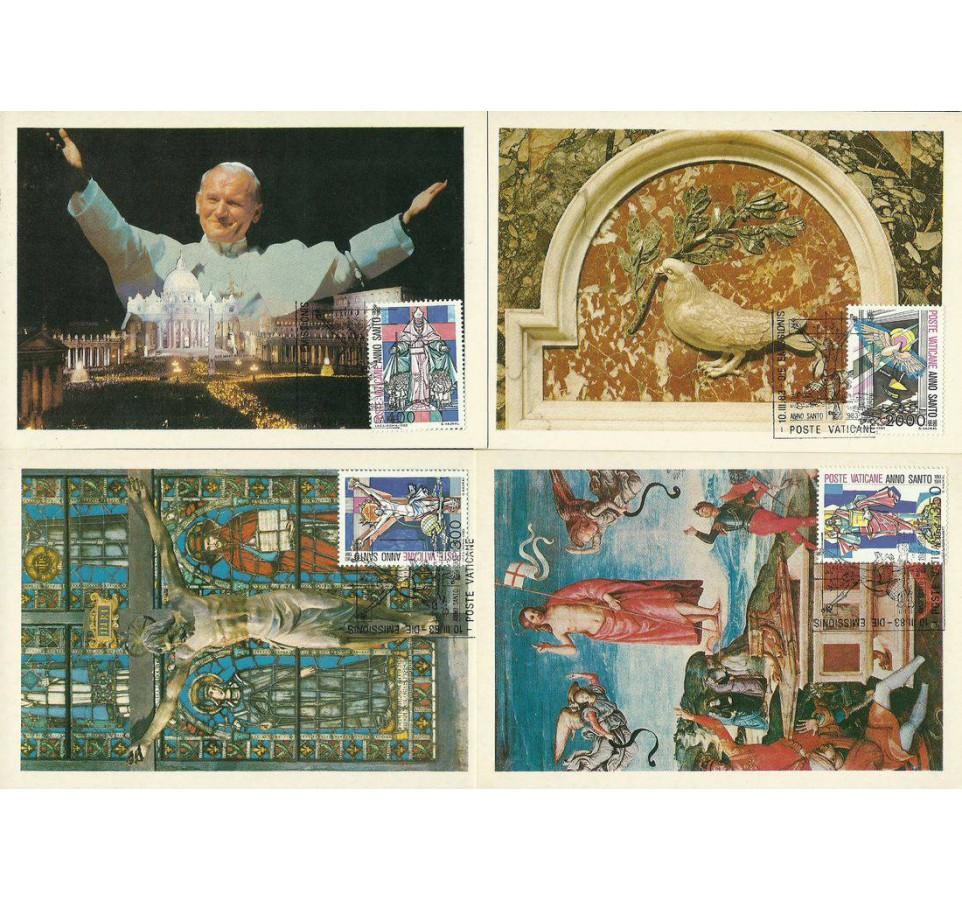 Watykan 1983 Mi 816-819 Karta Max