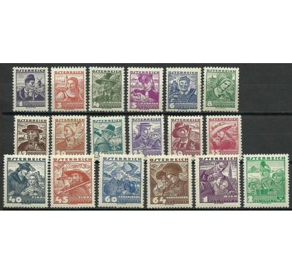 Znaczek Austria 1934 Mi 567-583+585 Czyste **