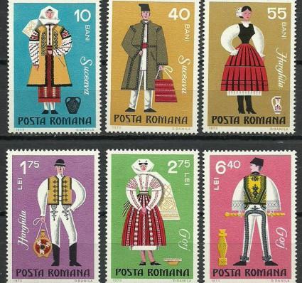 Znaczek Rumunia 1973 Mi 3110-3115 Czyste **
