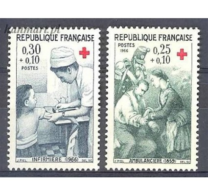 Francja 1966 Mi 1568-1569 Czyste **