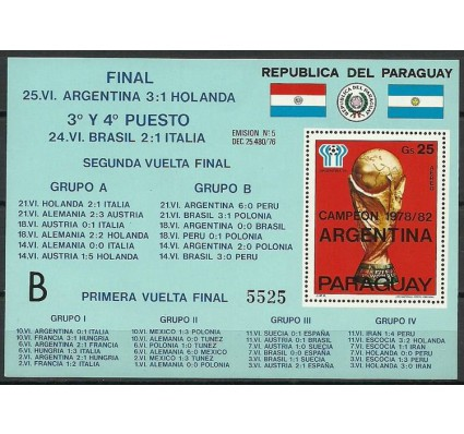 Znaczek Paragwaj 1978 Mi bl 329(B) Czyste **