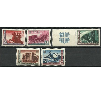 Znaczek Niemcy 1943 Mi (Serbia) 94-98 Czyste **