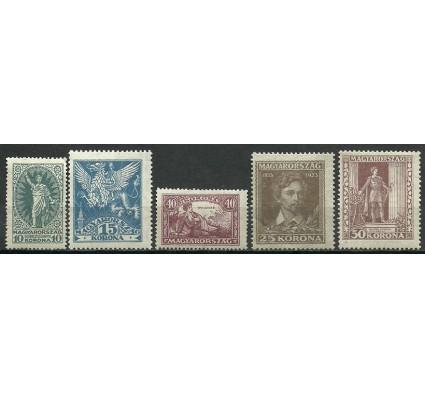Znaczek Węgry 1923 Mi 369-373 Czyste **