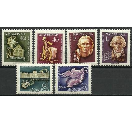 Znaczek Węgry 1959 Mi 1618-1623 Z podlepką *