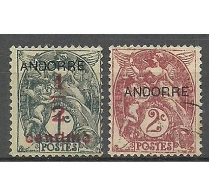 Znaczek Andora Francuska 1931 Mi 1+3 Z podlepką *