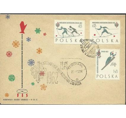 Znaczek Polska 1962 Mi 1294-1296 Fi 1149-1150a FDC