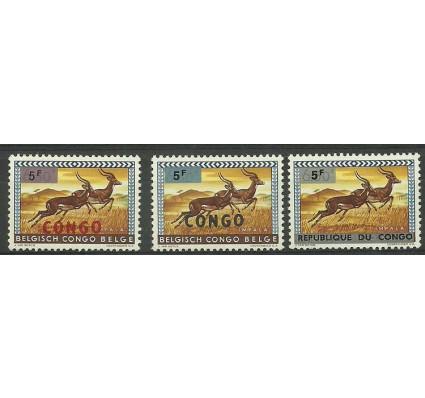 Znaczek Kongo Kinszasa / Zair 1964 Mi 185-187 Czyste **