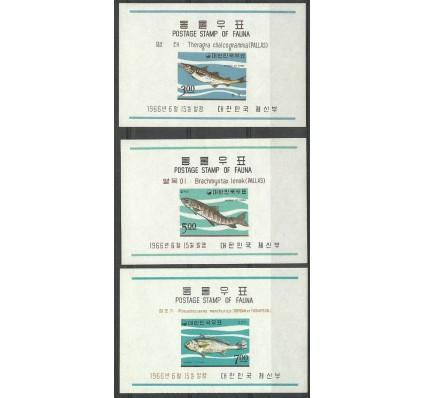 Znaczek Korea Południowa 1966 Mi bl 229-231 Czyste **
