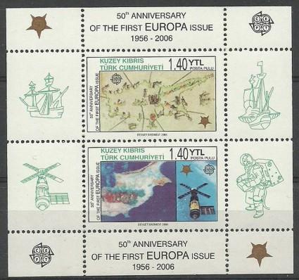 Znaczek Cypr Północny 2006 Mi bl 24 Czyste **