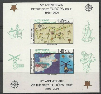 Znaczek Cypr Północny 2006 Mi bl 24B Czyste **