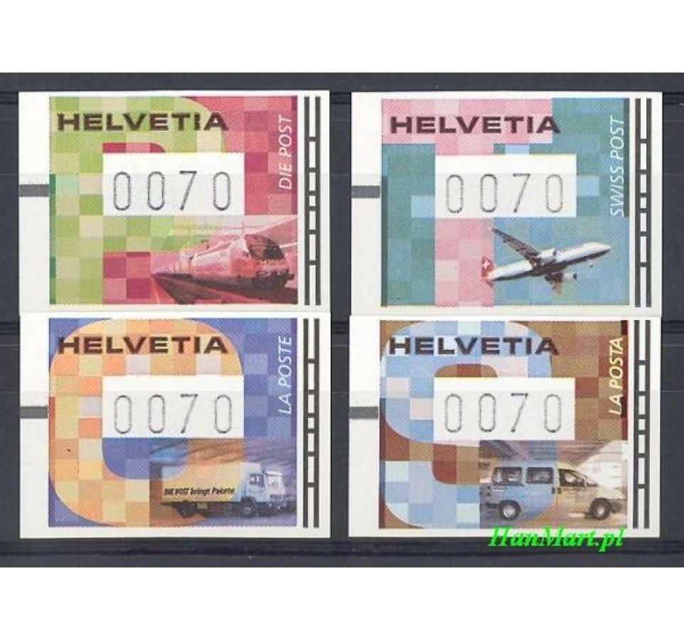 Szwajcaria 2001 Mi aut 11-14 Czyste **