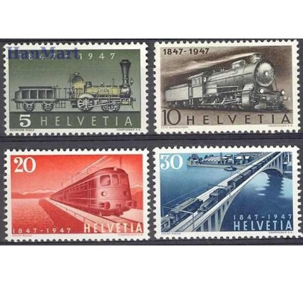 Znaczek Szwajcaria 1947 Mi 484-487 Czyste **