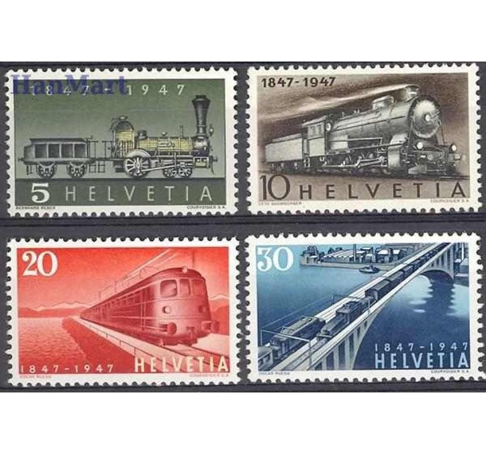 Szwajcaria 1947 Mi 484-487 Czyste **