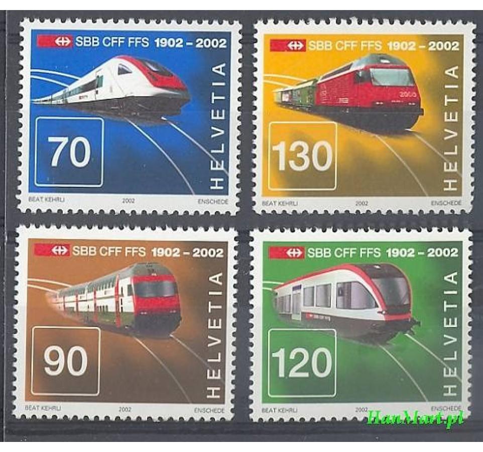Szwajcaria 2002 Mi 1778-1781 Czyste **