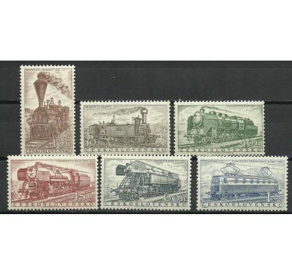 Znaczek Czechosłowacja 1956 Mi 988-993 Z podlepką *