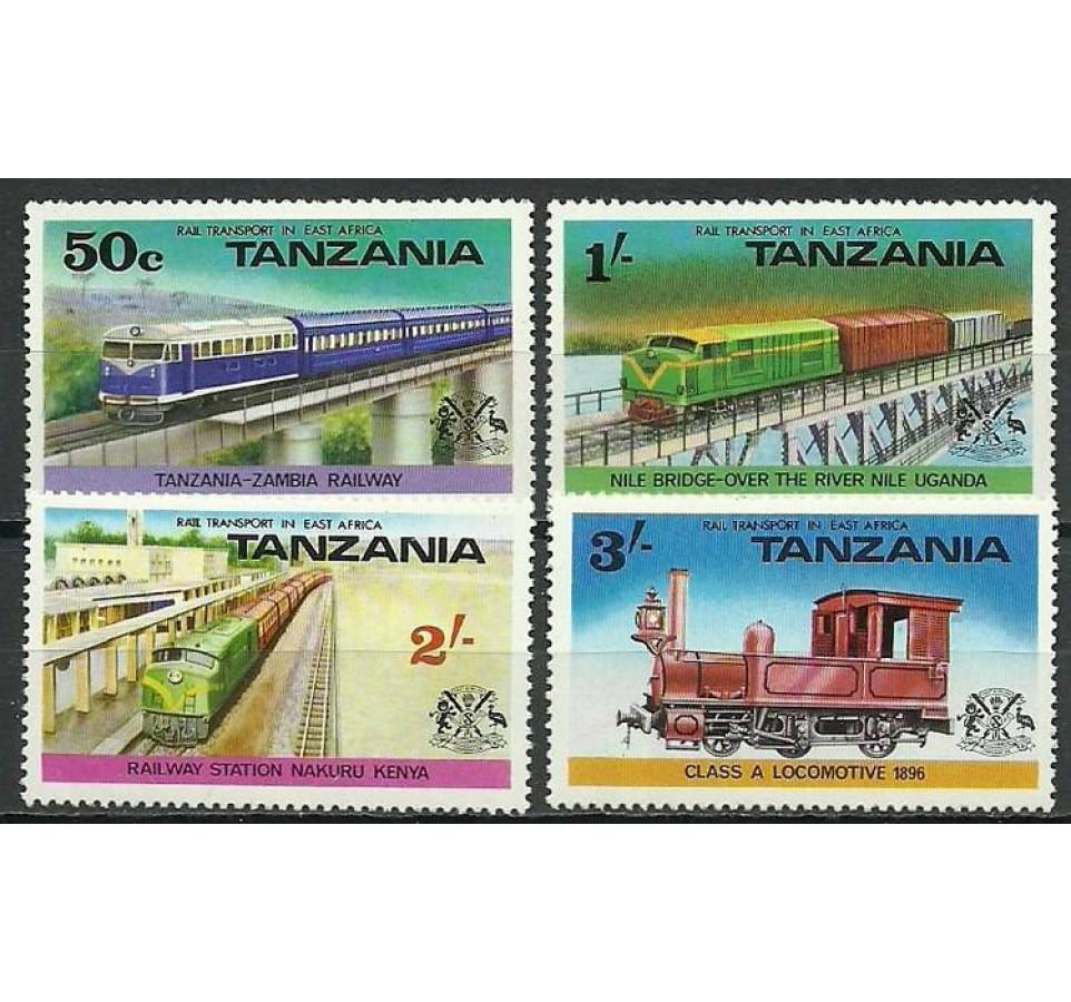 Tanzania 1976 Mi 62-65 Czyste **