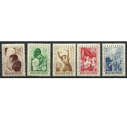Znaczek Węgry 1949 Mi 1048-1052 Z podlepką *