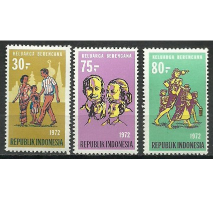 Znaczek Indonezja 1972 Mi 716-718 Czyste **