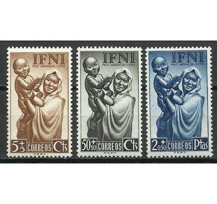 Znaczek IFNI 1952 Mi 108-110 Czyste **