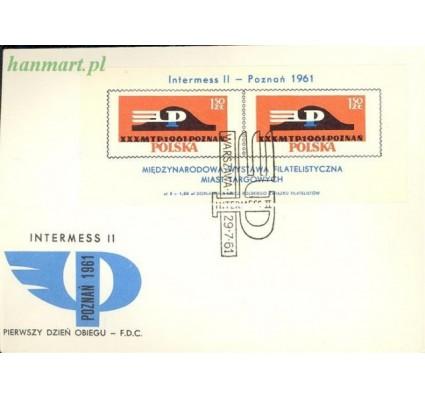 Znaczek Polska 1961 Mi bl 25a Fi bl 29II FDC