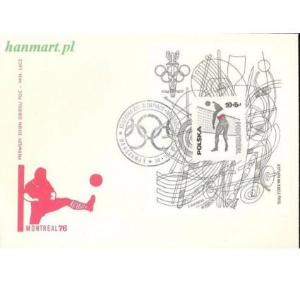 Znaczek Polska 1976 Mi bl 65 Fi bl 98 FDC