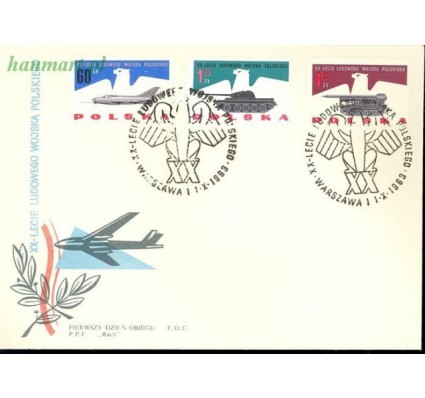 Znaczek Polska 1963 Mi 1425-1432 FDC