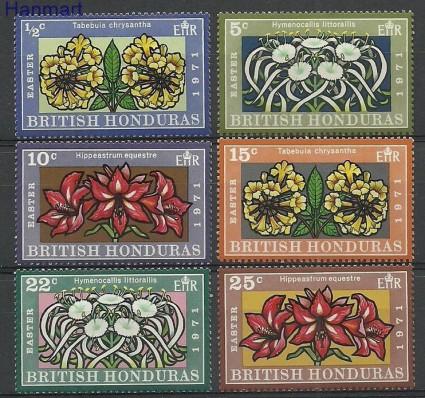 Znaczek Honduras Brytyjski 1971 Mi 261-268 Czyste **