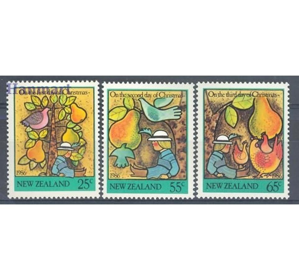 Nowa Zelandia 1986 Mi 971-973 Czyste **