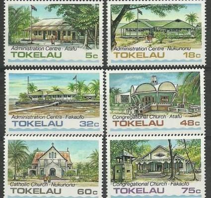 Znaczek Tokelau 1985 Mi 117-122 Czyste **