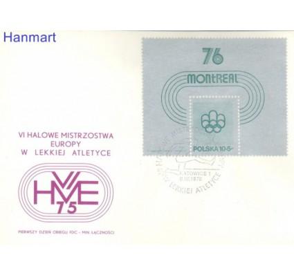 Znaczek Polska 1975 Mi bl 61 Fi bl 95 FDC