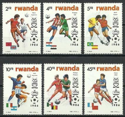 Znaczek Rwanda 1986 Mi 1340-1345 Czyste **