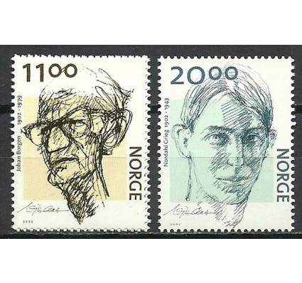 Znaczek Norwegia 2002 Mi 1438-1439 Czyste **
