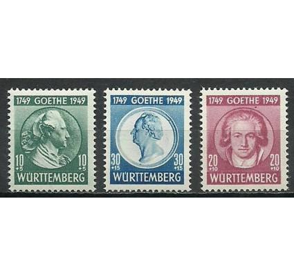 Znaczek Wurttemberg / Wirtembergia 1949 Mi 44-46 Z podlepką *