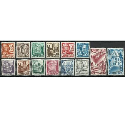 Znaczek Wurttemberg / Wirtembergia 1948 Mi 14-27 Czyste **