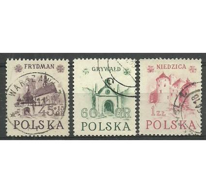 Znaczek Polska 1952 Mi 767-769II Fi 629-631 Stemplowane