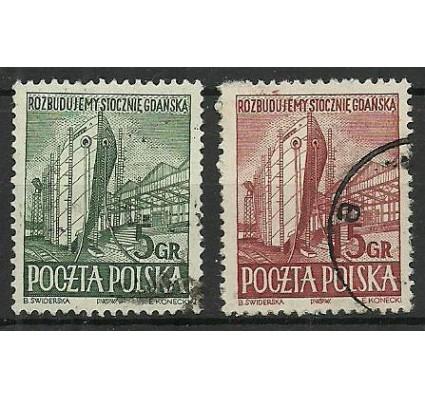 Znaczek Polska 1952 Mi 775-776A Fi 637-638 Stemplowane