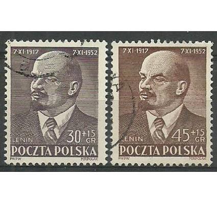 Znaczek Polska 1952 Mi 781-782 Fi 643-644 Stemplowane