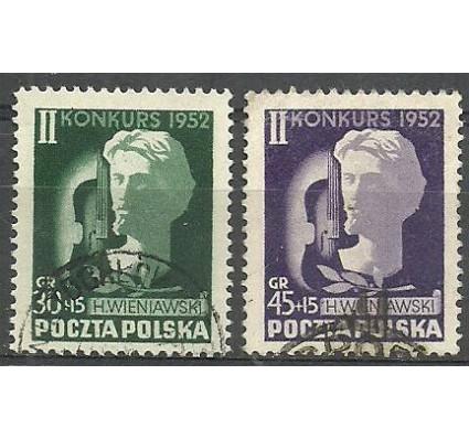 Znaczek Polska 1952 Mi 785-786 Fi 647-648 Stemplowane
