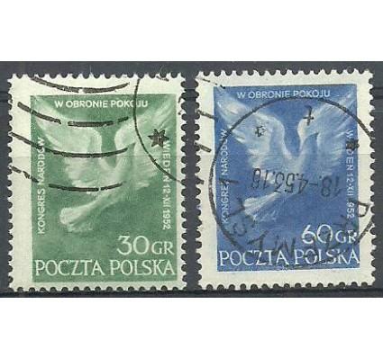 Znaczek Polska 1952 Mi 789-790 Fi 651-652 Stemplowane