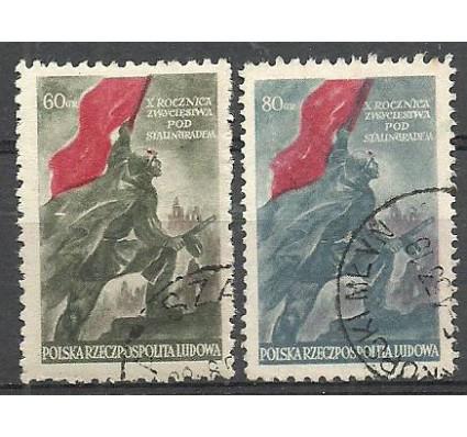 Znaczek Polska 1953 Mi 791-792 Fi 653-654 Stemplowane